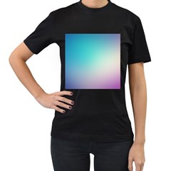 Background Blurry Template Pattern Women s T-Shirt (Black) (Two Sided)