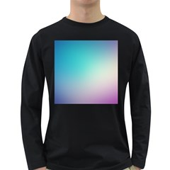 Background Blurry Template Pattern Long Sleeve Dark T-Shirts