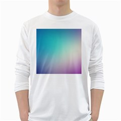 Background Blurry Template Pattern White Long Sleeve T-Shirts