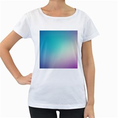 Background Blurry Template Pattern Women s Loose-Fit T-Shirt (White)
