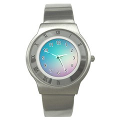Background Blurry Template Pattern Stainless Steel Watch