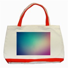 Background Blurry Template Pattern Classic Tote Bag (Red)