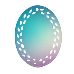 Background Blurry Template Pattern Oval Filigree Ornament (2-Side)