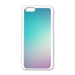 Background Blurry Template Pattern Apple iPhone 6/6S White Enamel Case