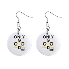 ONLY GOD CAN JUDGE ME Mini Button Earrings