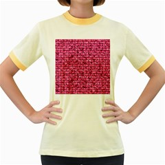 BRK1 BK-PK MARBLE (R) Women s Fitted Ringer T-Shirts