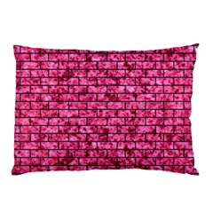 Brick1 Black Marble & Pink Marble (r) Pillow Case