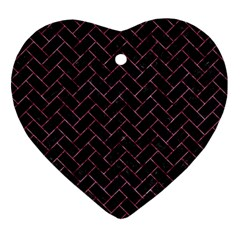 BRK2 BK-PK MARBLE Ornament (Heart)