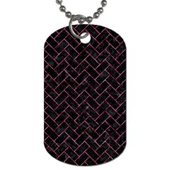 BRK2 BK-PK MARBLE Dog Tag (One Side)