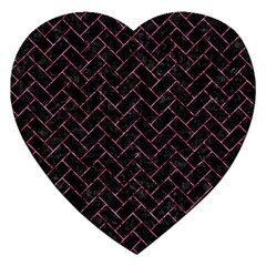 Brick2 Black Marble & Pink Marble Jigsaw Puzzle (heart)