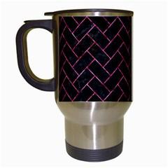 BRK2 BK-PK MARBLE Travel Mugs (White)
