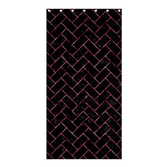 BRK2 BK-PK MARBLE Shower Curtain 36  x 72  (Stall)