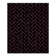 BRK2 BK-PK MARBLE Shower Curtain 60  x 72  (Medium)