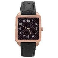 BRK2 BK-PK MARBLE Rose Gold Leather Watch