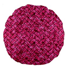 BRK2 BK-PK MARBLE (R) Large 18  Premium Round Cushions