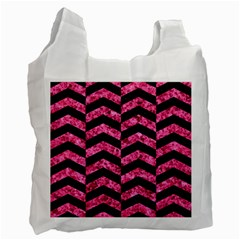 CHV2 BK-PK MARBLE Recycle Bag (Two Side)