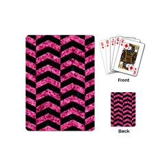 CHV2 BK-PK MARBLE Playing Cards (Mini)