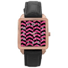 CHV2 BK-PK MARBLE Rose Gold Leather Watch
