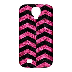 CHV2 BK-PK MARBLE Samsung Galaxy S4 Classic Hardshell Case (PC+Silicone)