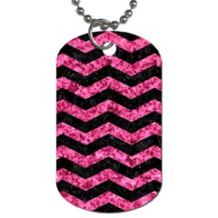CHV3 BK-PK MARBLE Dog Tag (Two Sides)