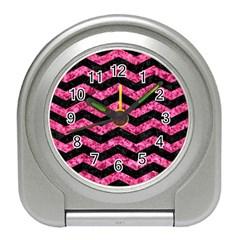 CHV3 BK-PK MARBLE Travel Alarm Clocks