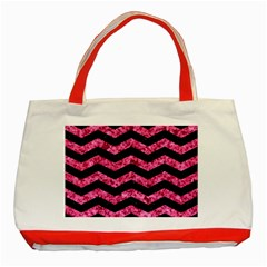 CHV3 BK-PK MARBLE Classic Tote Bag (Red)