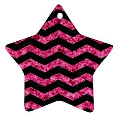 CHV3 BK-PK MARBLE Star Ornament (Two Sides)