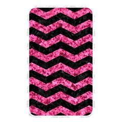 Chevron3 Black Marble & Pink Marble Memory Card Reader (rectangular)