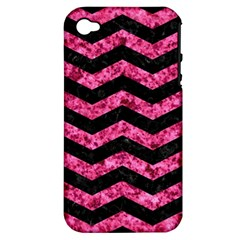 CHV3 BK-PK MARBLE Apple iPhone 4/4S Hardshell Case (PC+Silicone)
