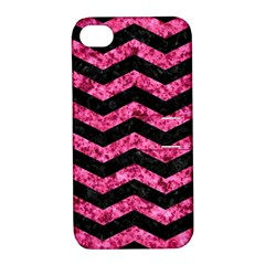 CHV3 BK-PK MARBLE Apple iPhone 4/4S Hardshell Case with Stand