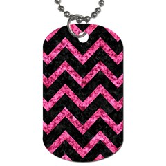 CHV9 BK-PK MARBLE Dog Tag (Two Sides)