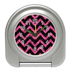 CHV9 BK-PK MARBLE Travel Alarm Clocks