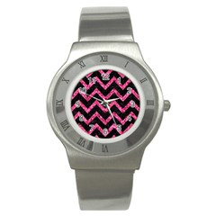 CHV9 BK-PK MARBLE Stainless Steel Watch