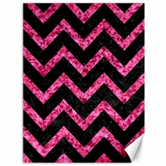 Chevron9 Black Marble & Pink Marble Canvas 36  X 48