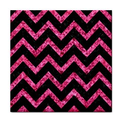 Chevron9 Black Marble & Pink Marble Face Towel
