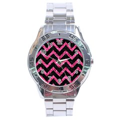 CHV9 BK-PK MARBLE Stainless Steel Analogue Watch