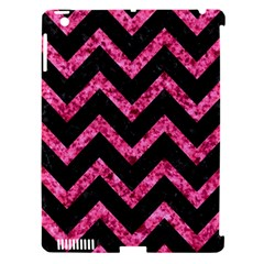 CHV9 BK-PK MARBLE Apple iPad 3/4 Hardshell Case (Compatible with Smart Cover)