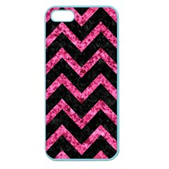 CHV9 BK-PK MARBLE Apple Seamless iPhone 5 Case (Color)