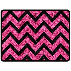 CHV9 BK-PK MARBLE (R) Fleece Blanket (Large)