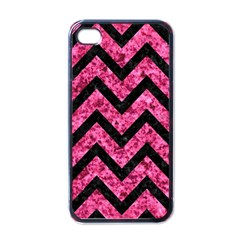 CHV9 BK-PK MARBLE (R) Apple iPhone 4 Case (Black)