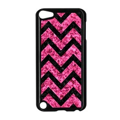 CHV9 BK-PK MARBLE (R) Apple iPod Touch 5 Case (Black)