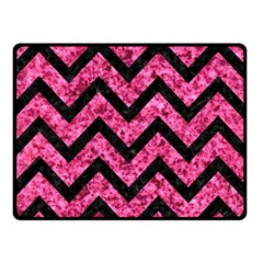 CHV9 BK-PK MARBLE (R) Double Sided Fleece Blanket (Small)