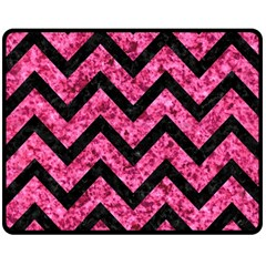 CHV9 BK-PK MARBLE (R) Double Sided Fleece Blanket (Medium)