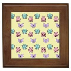 Animals Pastel Children Colorful Framed Tiles
