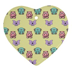 Animals Pastel Children Colorful Ornament (Heart)