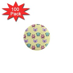 Animals Pastel Children Colorful 1  Mini Magnets (100 pack)