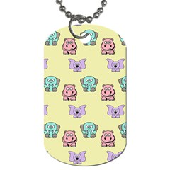 Animals Pastel Children Colorful Dog Tag (Two Sides)