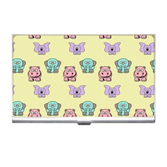 Animals Pastel Children Colorful Business Card Holders