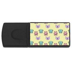 Animals Pastel Children Colorful USB Flash Drive Rectangular (1 GB)