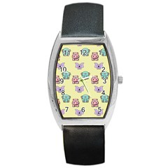 Animals Pastel Children Colorful Barrel Style Metal Watch